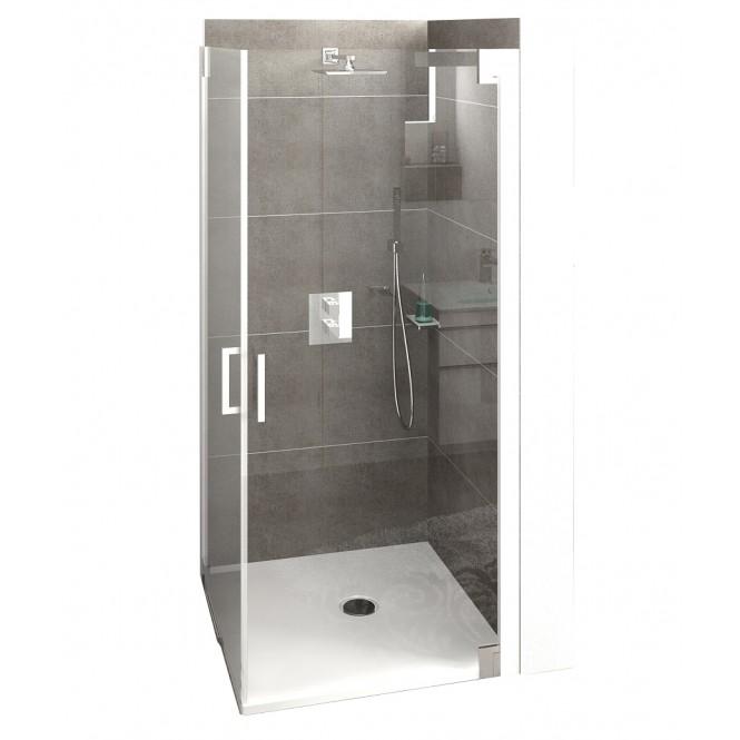 HSK K2P - K2P 2 Sliding Doors, 41 chrome-look 900 x 900 mm, 50 ESG clear bright