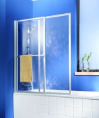 HSK - Bath screen, 50 ESG clear light 700-1180 x 1400 mm, 01 Alu silver matt