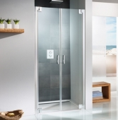 HSK K2P - Swing door for side panel, K2P, 50 ESG clear bright 1000 x 2000 mm, 41 chrome look