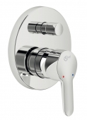 Ideal Standard Connect - Concealed single lever bathtub mixer for 2 outlets crômio