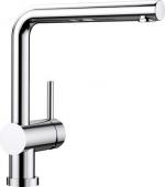 Blanco Linus-F - Küchenarmatur metallische Oberfläche Niederdruck chrom