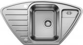 Blanco Lantos - Spüle 9 E-IF Edelstahl Bürstfinish mit Ablauffernbedienung