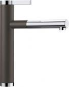 Blanco Linee-S - Küchenarmatur Silgranit-Look zweifarbig Hochdruck cafe/chrom