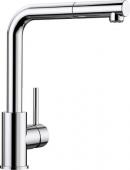 Blanco Mila-S - Küchenarmatur metallische Oberfläche Niederdruck chrom