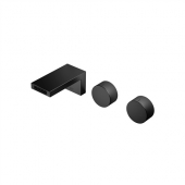Dornbracht Deque - Waschtisch-Wandbatterie mit Einzelrosetten 125 mm schwarz matt