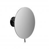 Emco Round - Rasier- und Kosmetikspiegel 3-fach rund Klebeadapter schwarz