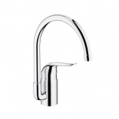 GROHE Euroeco Special - Single lever kitchen mixer L-Size with Swivel Spout and Flow Limiter crômio