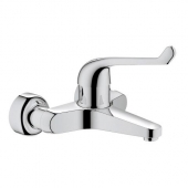 GROHE Euroeco Special - Sequential Single Lever Basin Mixer para montagem na parede com comprimento da bica 204 mm without waste set crômio