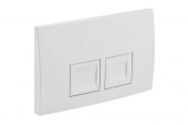 Geberit Delta50 - Flush Plate for WC and 2 flushes white / white