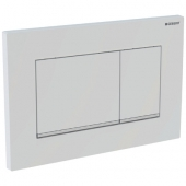 Geberit Sigma30 - Betätigungsplatte für 2-Mengen-Auslösung weiß / chrom hochglanz / weiß