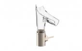 Hansgrohe Axor Starck V - Waschtischmischer 140 mit Glasauslauf-Facettenschliff brushed nickel