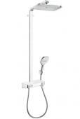 Hansgrohe Raindance Select E 360 - 1jet ShowerTablet Showerpipe weiß / chrom