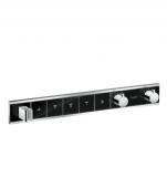 Hansgrohe RainSelect - Thermostat Unterputz Fertigset 5 Verbraucher schwarz / chrom