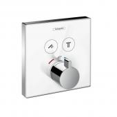 Hansgrohe ShowerSelect - Glas Thermostat für 2 Funktionen Highflow chrom / weiß