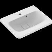 Ideal Standard Tonic II - Möbelwaschtisch 1 Hahnloch mit seitlichem Überlauf 515 x 410 x 195 mm weiß