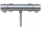 Keuco Plan - Exposed thermostatic shower mixer for 1 outlet aluminium-finish