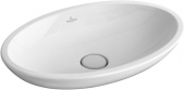 Villeroy & Boch Loop & Friends - Countertop Washbowl for Console 630x430mm without tap holes without overflow branco com CeramicPlus