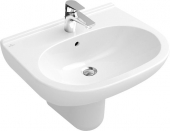 Villeroy & Boch O.novo - Washbasin 550x450mm with 1 tap hole with overflow branco com CeramicPlus