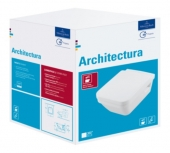 Villeroy & Boch Architectura - Wand-WC Combi Pack mit DirectFlush und CeramicPlus weiß