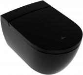 Villeroy & Boch ViClean - Dusch-WC spülrandlos I100 DirectFlush wandhängend glossy black