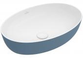 Villeroy & Boch Artis - Aufsatzwaschtisch 610 x 410 mm oval ocean