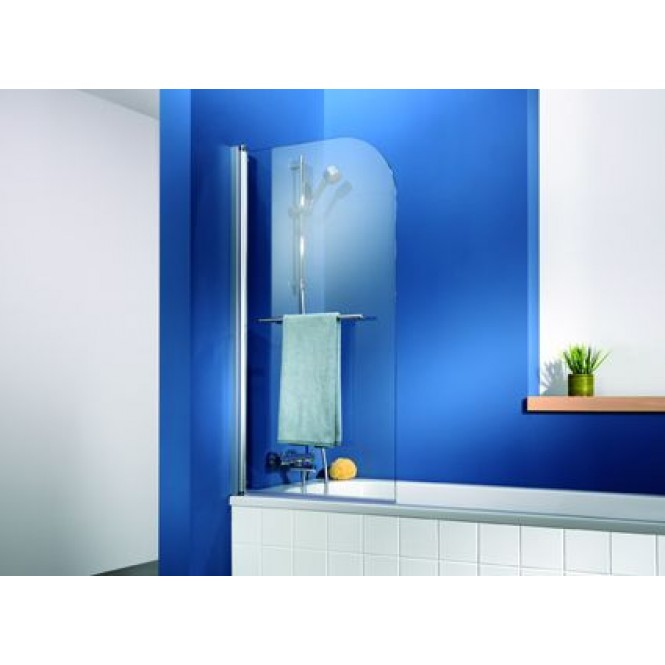 HSK - Bath screen 1-piece, chrome-look 41 750 x 750 x 1400, 100 Glasses art center