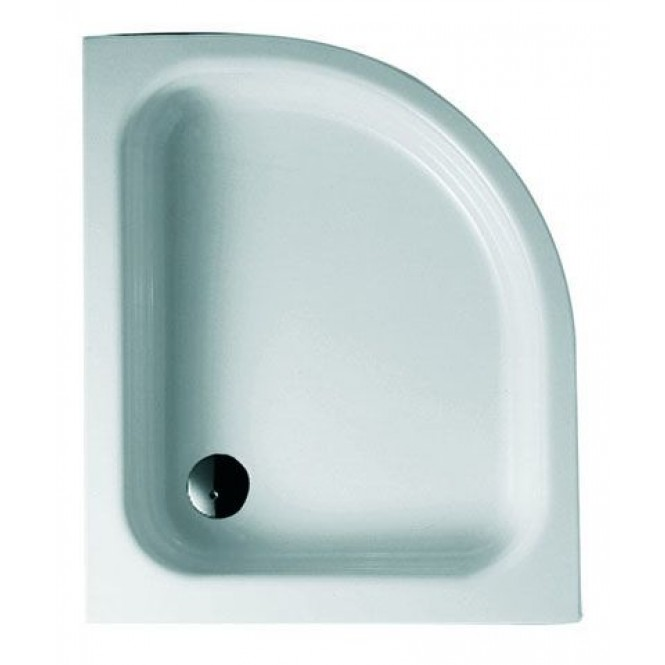 Bette BetteCorner ohne Schürze - Quarter-circle shower tray Edelweiss - 80 x 100