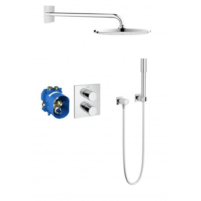 Grohe Grohtherm 3000 - Duschsystem Unterputz mit Rainshower Cosmopolitan 310