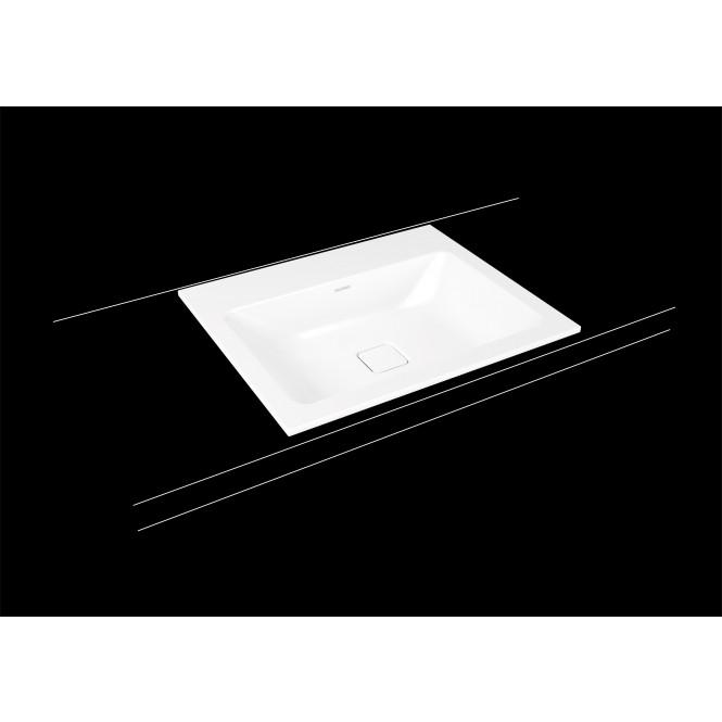 Kaldewei Cono - Einbauwaschtisch 600 x 500 mm mit Perl-Effekt weiß