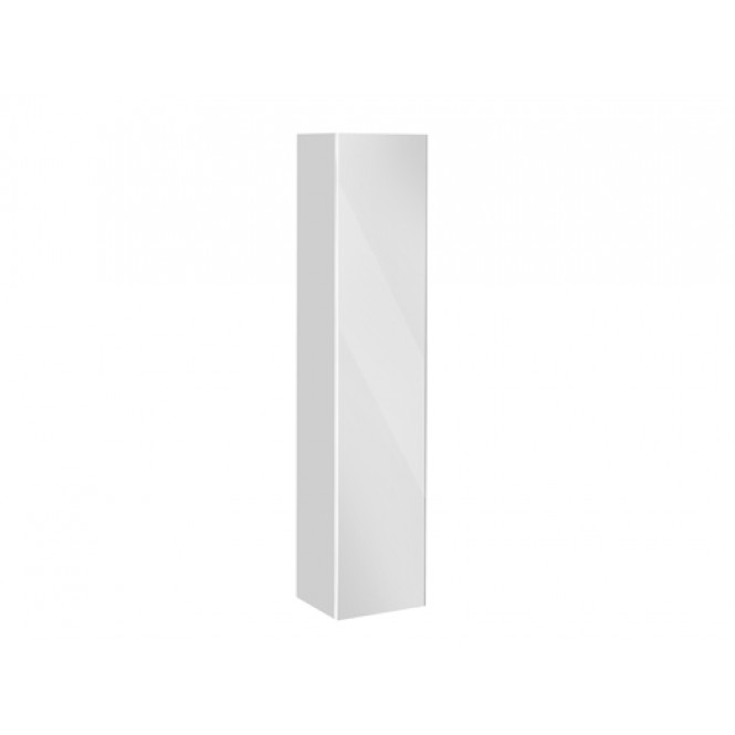 Keuco Royal Reflex - Tall cabinet 34031 hinge left, 1 door, with laundry basket, mocha / mirrors