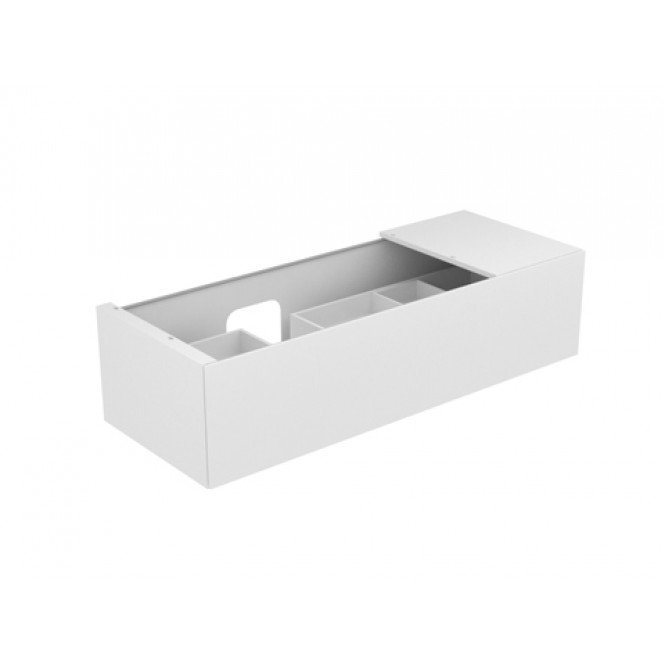 Keuco Edition 11 - Vanity unit 31163, 1 front pull, white high gloss / white high gloss