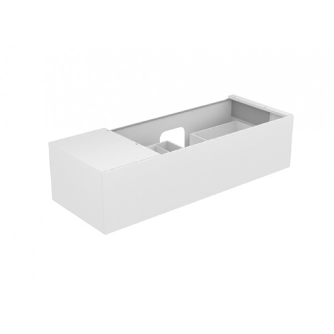 Keuco Edition 11 - Vanity unit 31164, 1 pan drawer, with lighting, white high gloss / white high gloss