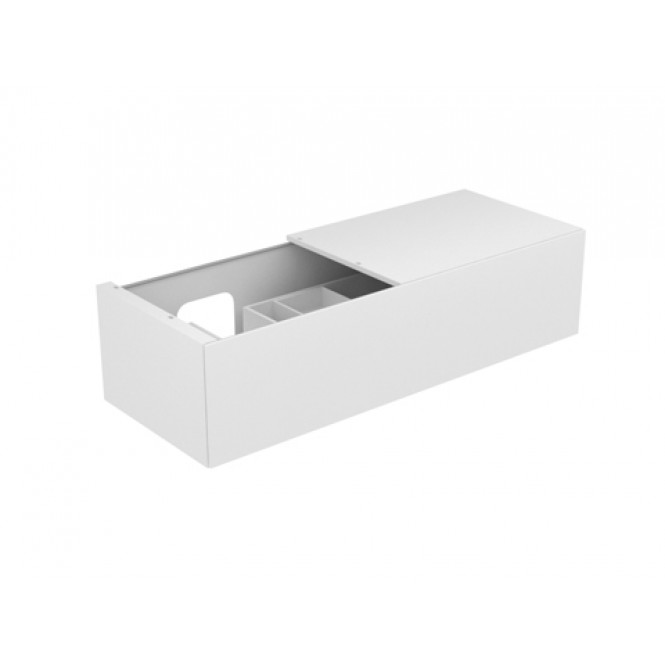 Keuco Edition 11 - Vanity unit 31165, 1 pan drawer, with lighting, white high gloss / white high gloss