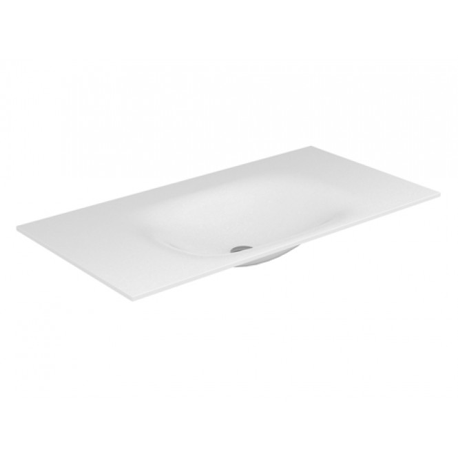 Keuco Edition 11 - Varicor basin 31280 without tap hole, white, 2450 mm