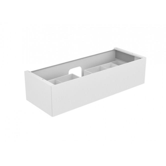 Keuco Edition 11 - Vanity unit 31261, 1 drawer with lighting, white high gloss / white high gloss