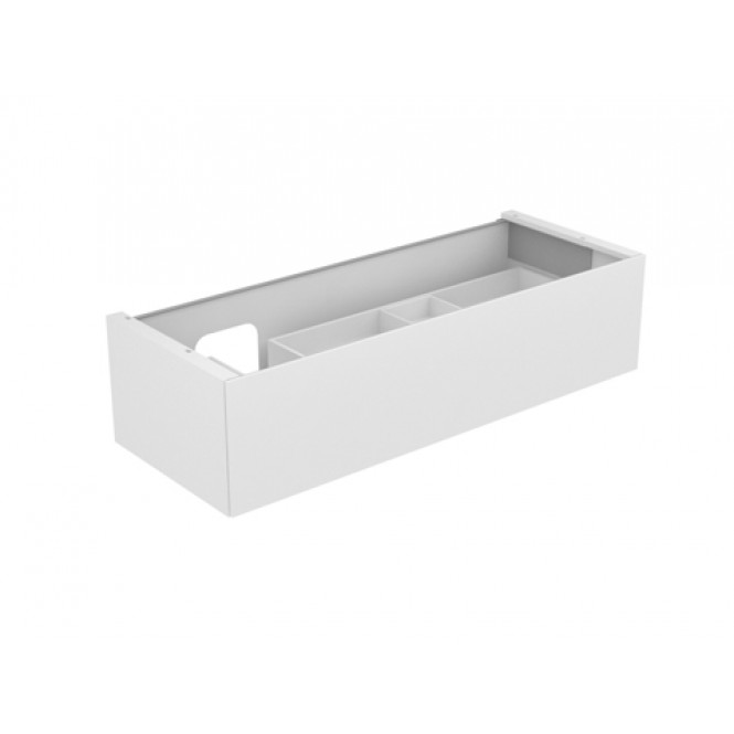 Keuco Edition 11 - Vanity unit 31265, 1 drawer with lighting, white high gloss / white high gloss