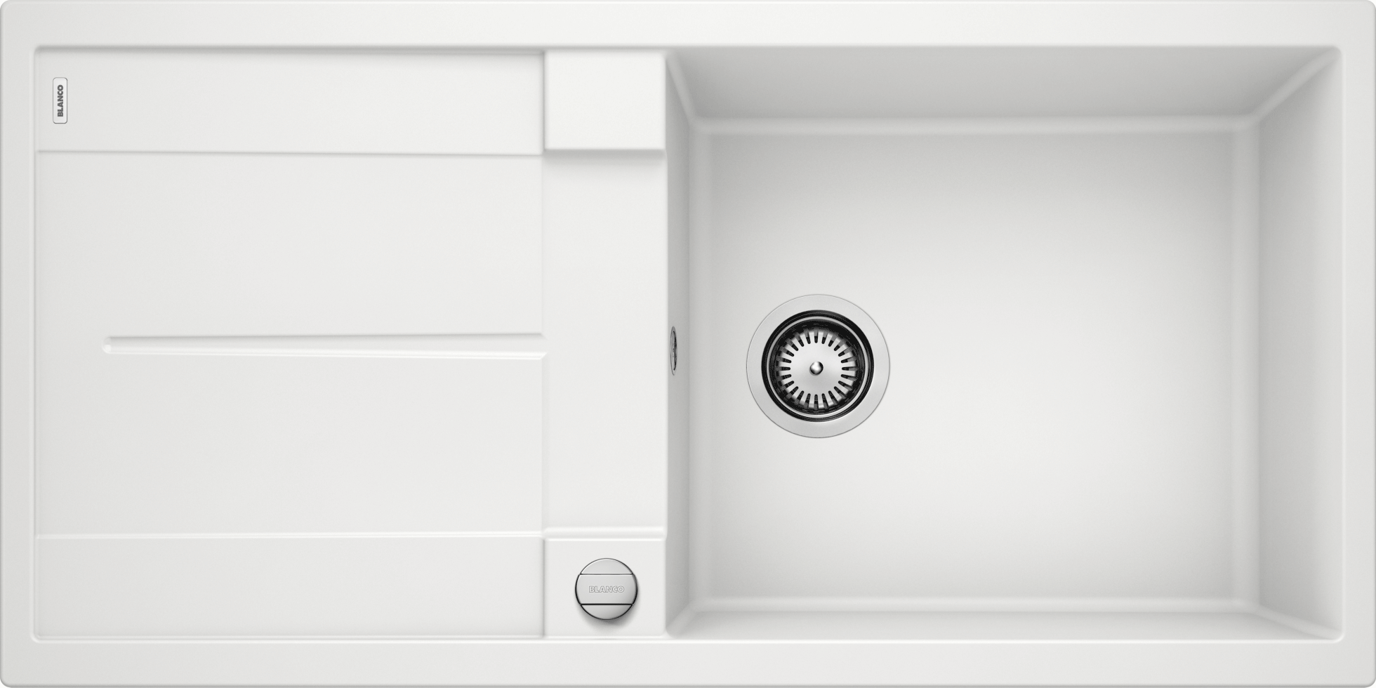 Blanco Metra Kitchen Sink With Drainer With Overflow 1000 White Xtwostore