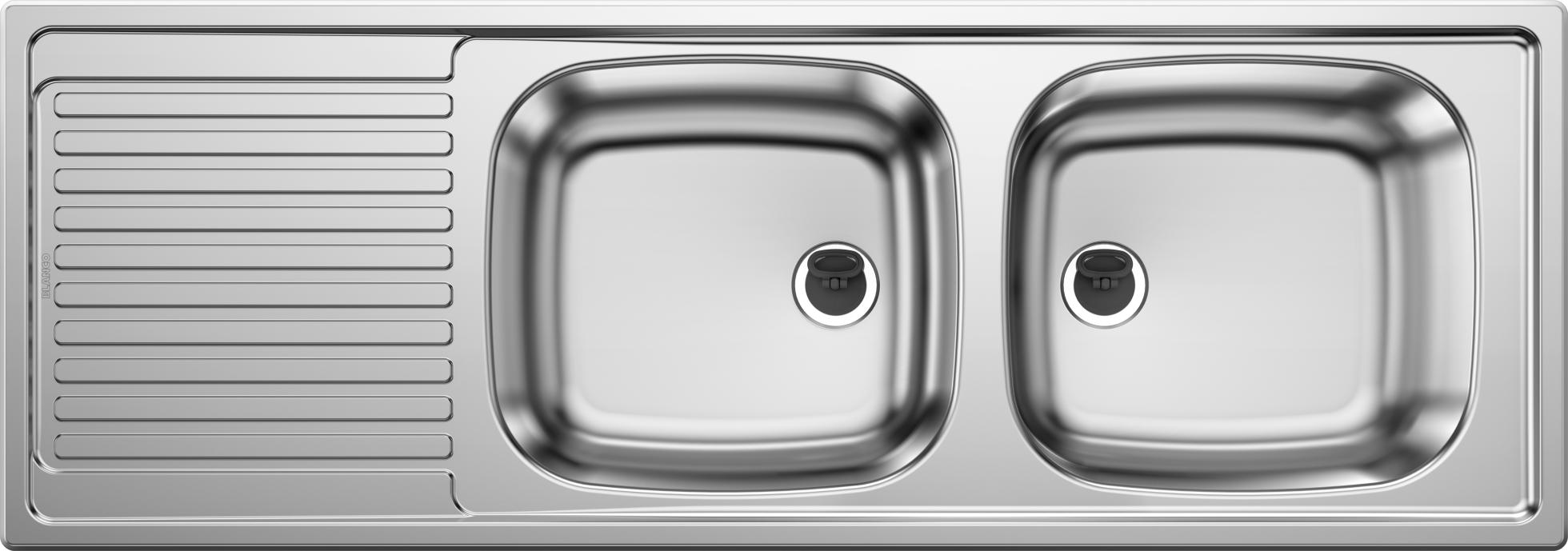 Blanco Top EZS 11 x 4 Edelstahlspüle Naturfinish Set
