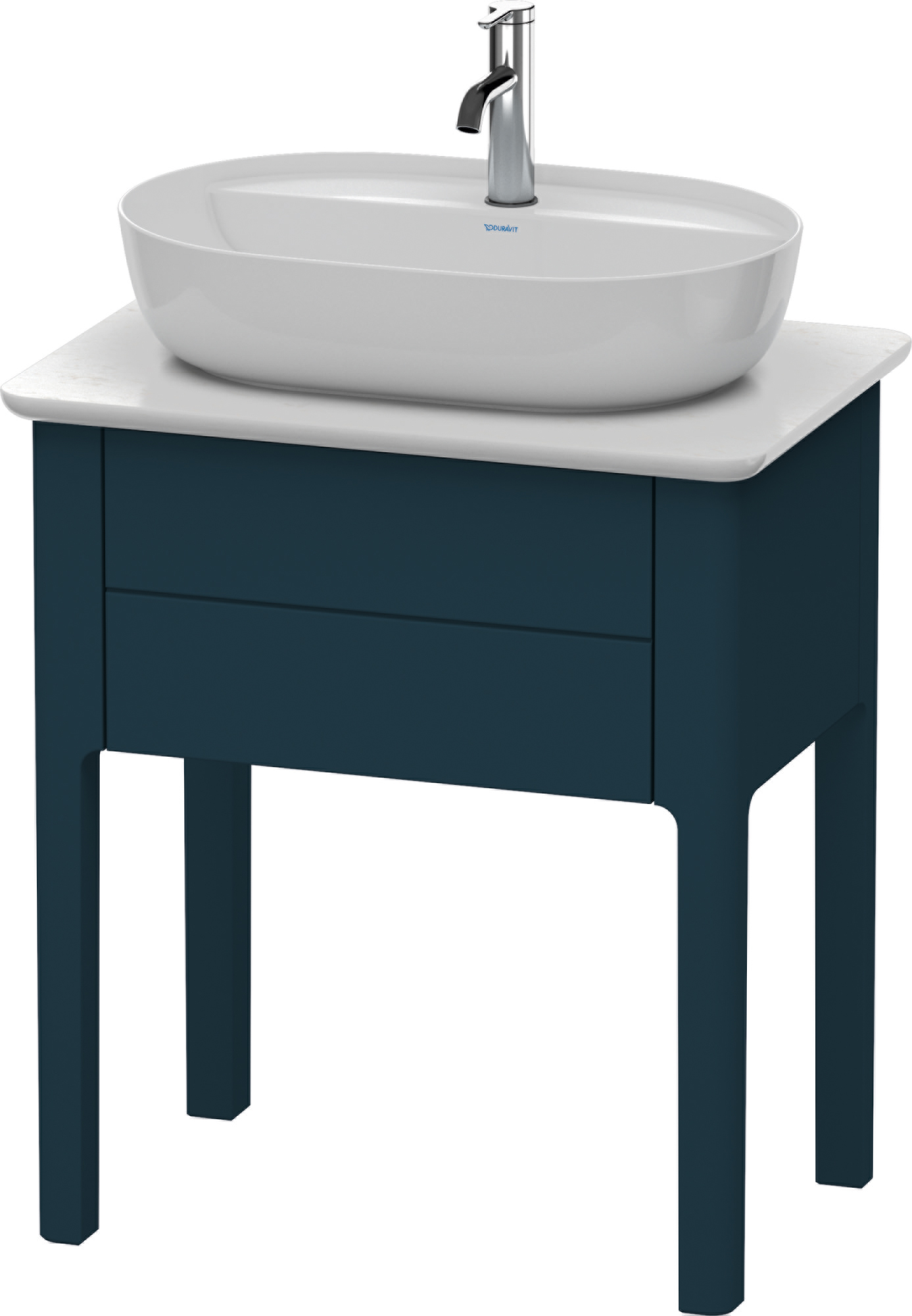 Duravit Luv Vanity Unit For Console 638 With 1 Drawer 1 Basin Cut Out Center Night Blue Silk Matt Xtwostore