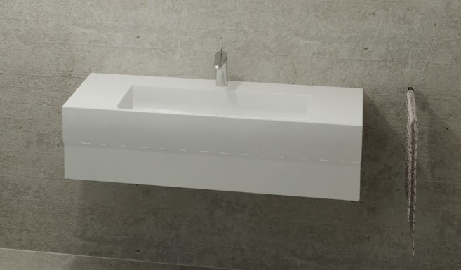 burgbad crono waschtischkonsole 1210 x 310 x 500 mm mit 1 schublade wei hochglanz wei