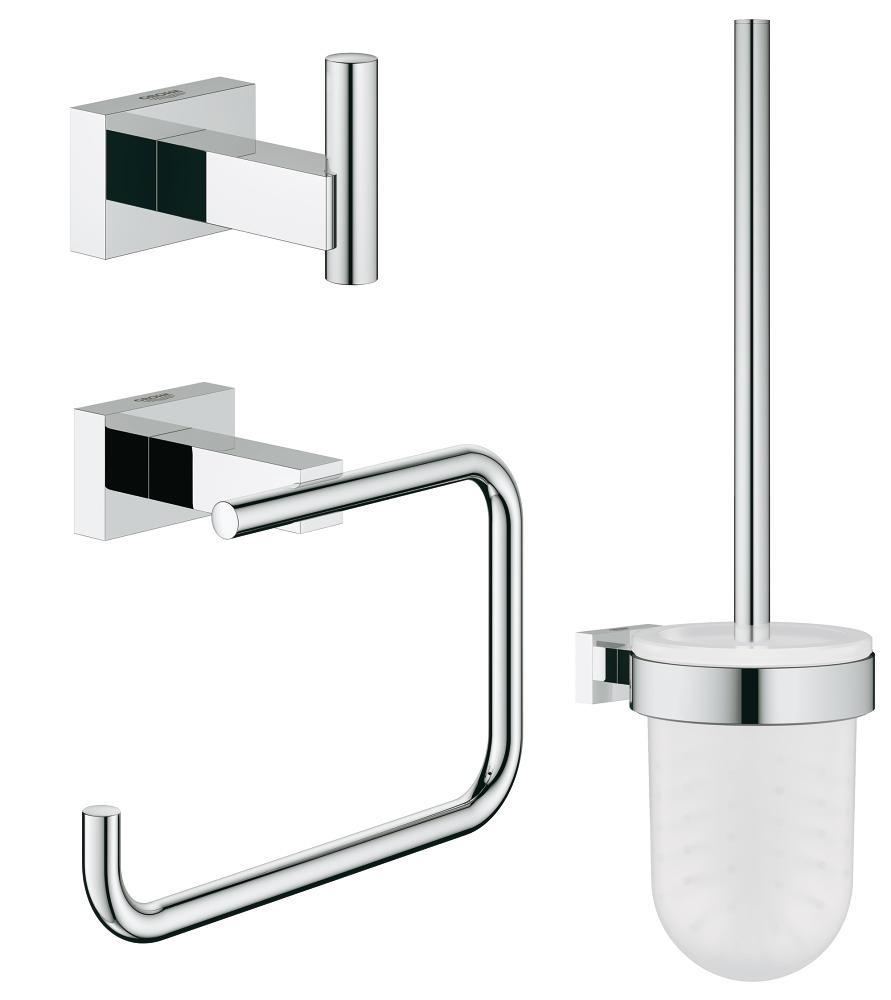 great deals wholesale dealer discount shop GROHE Essentials Cube Toilet set 3 in 1 chrome / satin ...