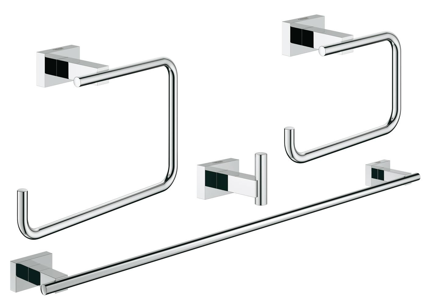 on feet shots of nice cheap outlet online GROHE Essentials Cube Bathroom set 4 in 1 chrome   xTWOstore