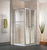HSK - Folding door 2-piece, 50 ESG clear bright 1000 x 1850 mm, 01 Alu silver matt