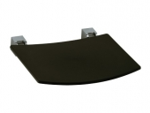 Keuco Plan - Foldable seat black gray / chrome-plated