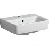 Geberit Renova Nr. 1 Comprimo - Handwaschbecken 450 x 340 mm mit Hahnloch mit Überlauf weiß KeraTect