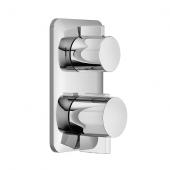 Dornbracht Lissé - Unterputz-Thermostat mit 2-Wege-Mengenregulierung platin matt