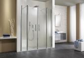 HSK Exklusiv - Pendeltür 1200 x 2000 mm in Nische alu silber matt / Glasmattierung mittig