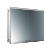 Emco Asis Evo - LED-Lichtspiegelschrank Unterputz 800 mm 2-türig