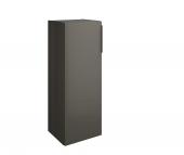 Burgbad Eqio - Halbhoher Schrank mit 1 Tür Front grau hochglanz / Korpus grau glänzend