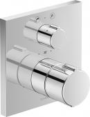 Duravit C.1 - Wannenthermostat Unterputz mit Abstell- / Umstellventil eckig 195 x 195 x 195 mm